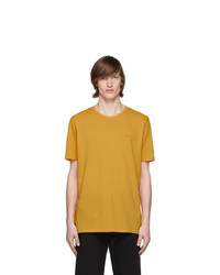T-shirt à col rond moutarde Hugo