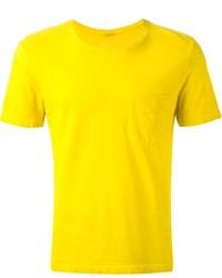 T-shirt à col rond moutarde Massimo Alba