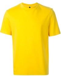T-shirt à col rond moutarde Neil Barrett