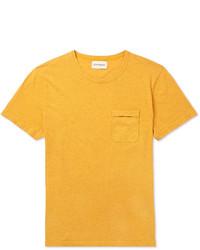 T-shirt à col rond moutarde Oliver Spencer