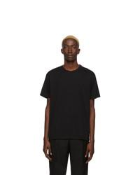 T-shirt à col rond noir et blanc Givenchy