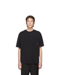 T-shirt à col rond noir Acne Studios