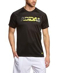 T-shirt à col rond noir adidas