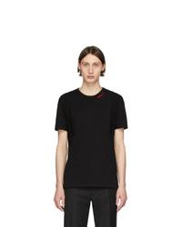 T-shirt à col rond noir Alexander McQueen