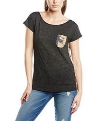 T-shirt à col rond noir Billabong