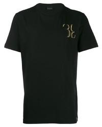 T-shirt à col rond noir Billionaire