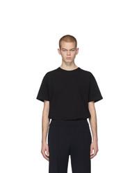 T-shirt à col rond noir Bottega Veneta