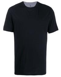 T-shirt à col rond noir Brunello Cucinelli
