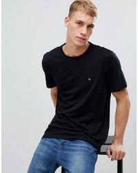 T-shirt à col rond noir Calvin Klein