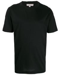 T-shirt à col rond noir Canali