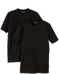T-shirt à col rond noir Casamoda