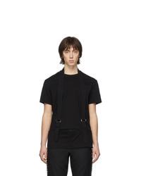 T-shirt à col rond noir Comme Des Garcons Homme Plus