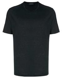 T-shirt à col rond noir Ermenegildo Zegna