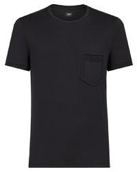 T-shirt à col rond noir Fendi