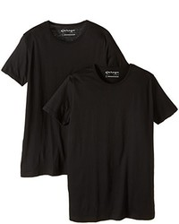 T-shirt à col rond noir Garage