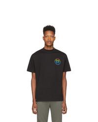 T-shirt à col rond noir Honey Fucking Dijon