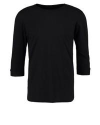 T-shirt à col rond noir INDICODE JEANS