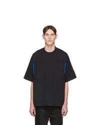 T-shirt à col rond noir Jil Sander