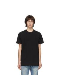 T-shirt à col rond noir John Elliott