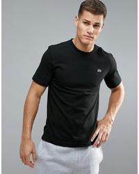 T-shirt à col rond noir Lacoste Sport