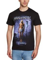 T-shirt à col rond noir Live Nation