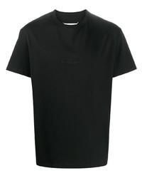 T-shirt à col rond noir Maison Margiela