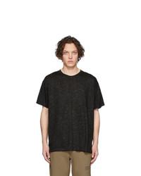 T-shirt à col rond noir Martin Asbjorn