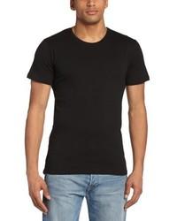 T-shirt à col rond noir Minimum