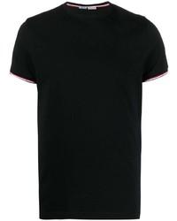 T-shirt à col rond noir Moncler
