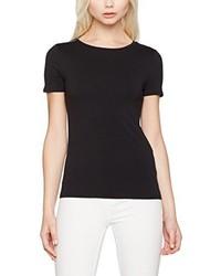 T-shirt à col rond noir New Look