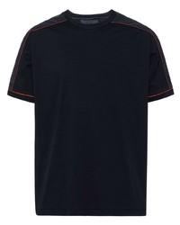 T-shirt à col rond noir Prada
