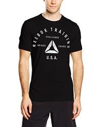 T-shirt à col rond noir Reebok