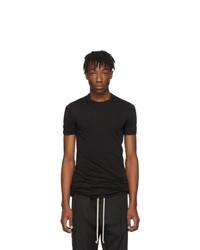 T-shirt à col rond noir Rick Owens