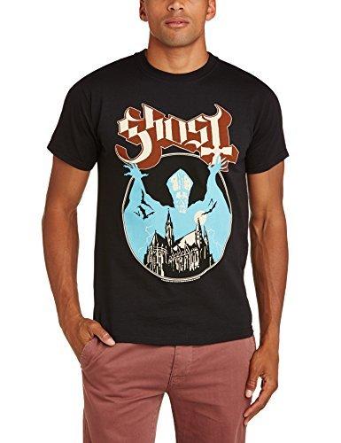 T-shirt à col rond noir Rock Off