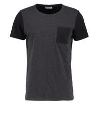 T-shirt à col rond noir Selected Homme