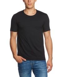 T-shirt à col rond noir Selected