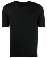 T-shirt à col rond noir Tagliatore