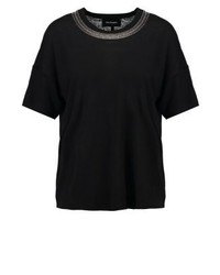 T-shirt à col rond noir The Kooples Sport