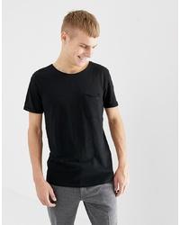 T-shirt à col rond noir Tom Tailor