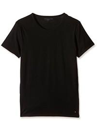 T-shirt à col rond noir Tommy Hilfiger