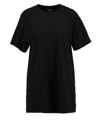 T-shirt à col rond noir Topshop