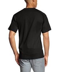 T-shirt à col rond noir Touchlines