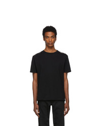 T-shirt à col rond noir Valentino