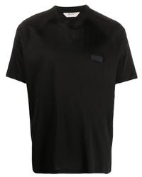 T-shirt à col rond noir Z Zegna