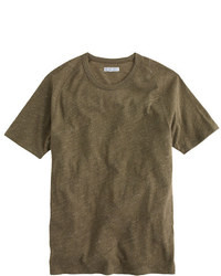 T-shirt à col rond olive