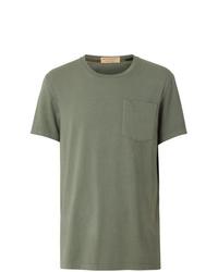 T-shirt à col rond olive Burberry