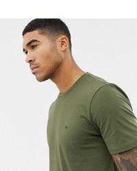 T-shirt à col rond olive Calvin Klein