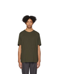 T-shirt à col rond olive Issey Miyake Men