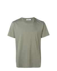 T-shirt à col rond olive Jil Sander