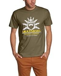T-shirt à col rond olive Touchlines
